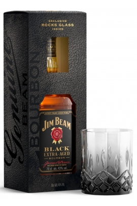 Jim Beam Black (dėž. + stiklinė)
