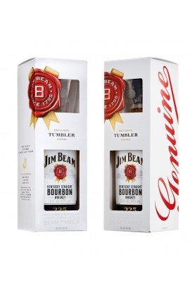 Jim Beam White (dėž. + stiklinė)