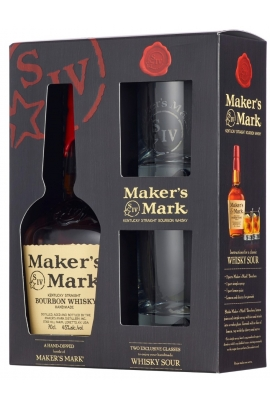 Maker's Mark (dėž. + 2 stiklinės)
